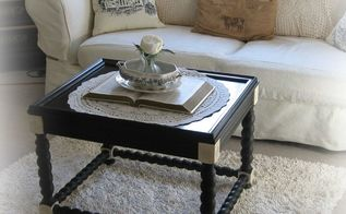 thrifty coffee table makeover, painted furniture