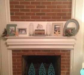 Too Afraid to Paint My Brick Fireplace!! Quick Change to Make It ...