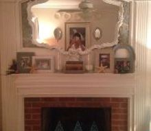 too afraid to paint my brick fireplace quick change to make it pop, concrete masonry, fireplaces mantels, home decor, living room ideas