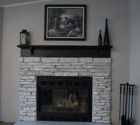 My Painted Fireplace | Hometalk