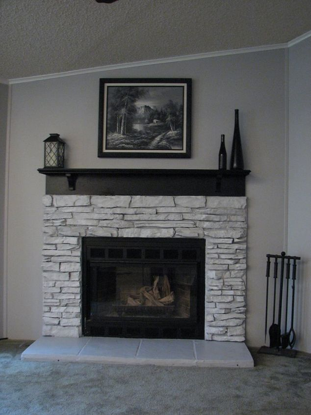 My Painted Fireplace Hometalk