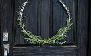 diy minimal holiday wreath, christmas decorations, crafts, seasonal holiday decor, wreaths