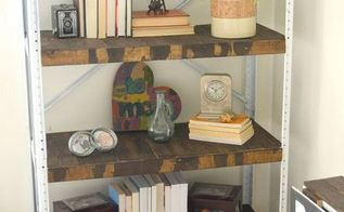 storage shelf turned rustic bookshelf, painted furniture, repurposing upcycling