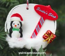 cupcake topper ornaments, christmas decorations, seasonal holiday decor