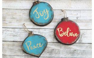 rustic glam christmas ornaments, christmas decorations, seasonal holiday decor