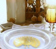 a metallic thanksgiving tablescape, seasonal holiday decor, thanksgiving decorations
