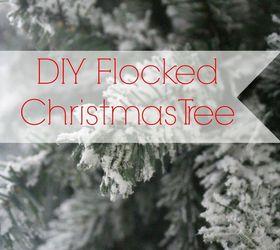 DIY Flocked Christmas Tree | Hometalk