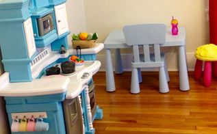 upcycled play kitchen, painted furniture, repurposing upcycling