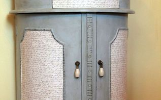 table makeover with chalky paint and scrapbook paper, painted furniture