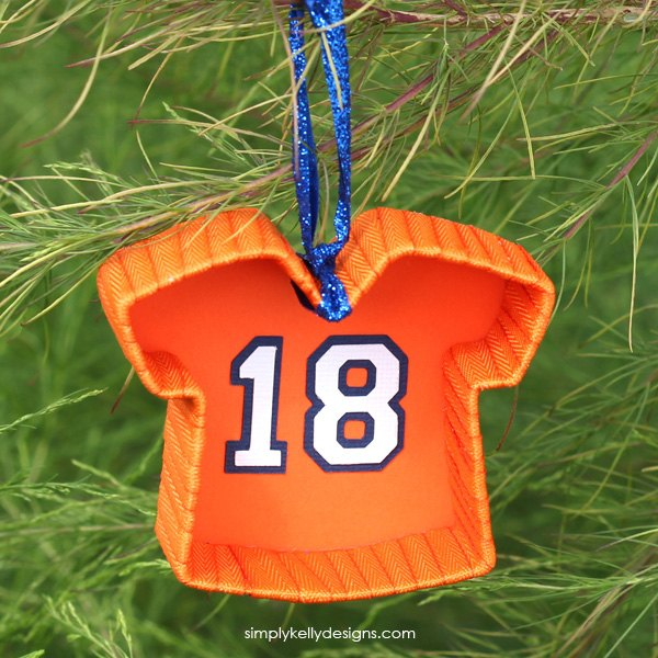 Football Jersey Christmas Ornament