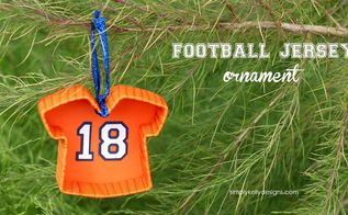 football jersey christmas ornament, christmas decorations, seasonal holiday decor