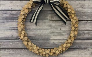wood slice wreath, christmas decorations, crafts, wreaths