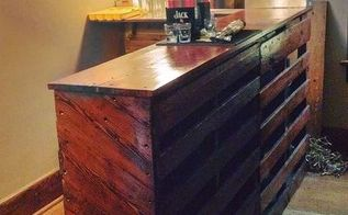 pallet paradise bar, diy, pallet, woodworking projects