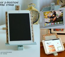 3 2 position ipad stand ikea hack, crafts, woodworking projects