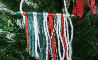 mini yarn wall hanging ornament, christmas decorations, seasonal holiday decor, Mini Yarn Wall Hanging Ornament