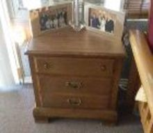 q upcycling furniture help, painted furniture, painting wood furniture, repurpose furniture, Nightstand the bottom drawer is one deep drawer and not two drawers 22 wide 14 deep 25 high approximately