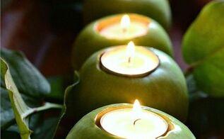 green apple centerpiece, crafts