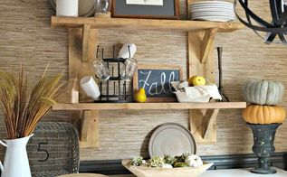 diy rustic floating shelves, diy, home decor, rustic furniture, shelving ideas, wall decor