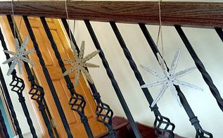 super easy clothespin stars, christmas decorations, crafts
