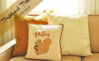 make a pillow out of a dishtowel, crafts, how to, repurposing upcycling, reupholster
