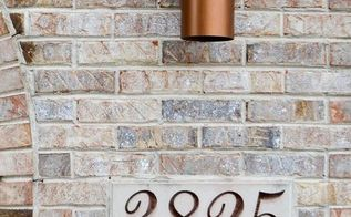 easy mailbox and outdoor lights update, curb appeal, home improvement, landscape, painted furniture