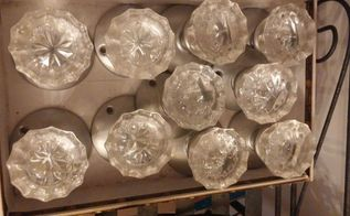 q glass door knobs, crafts, repurpose building materials, repurposing upcycling