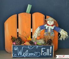 diy rustic pumpkin stand, chalkboard paint, crafts, fences, outdoor living, seasonal holiday decor, woodworking projects