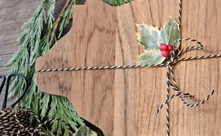 christmas gift diy cheese board, crafts, how to, woodworking projects
