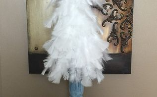 white feather christmas tree tutorial, christmas decorations, how to