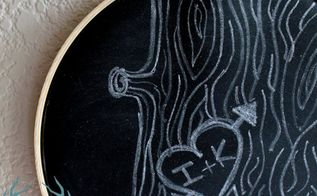 embroidery hoop chalkboard diy, chalkboard paint, crafts