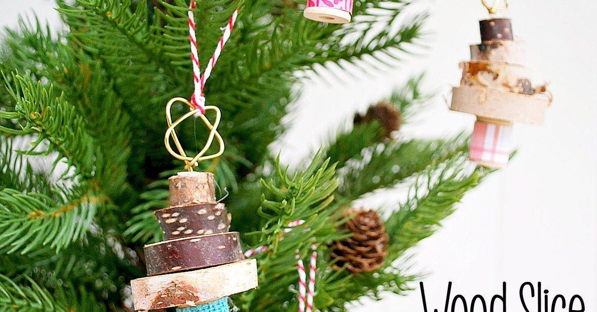 Stacked Wood Slice Christmas Tree Ornament Hometalk