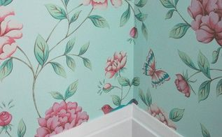 wallpaper hanging tips, bedroom ideas, how to, wall decor