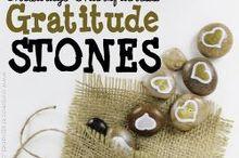 gratitude stones, crafts