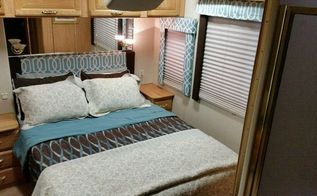 diy my 22 rv makeover, diy, home improvement, New headboard