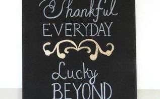thankful everyday canvas wall art 5 easy steps, crafts, seasonal holiday decor, thanksgiving decorations