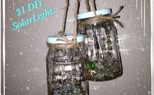 diy solar mason jar lights for a buck, christmas decorations, crafts, mason jars, seasonal holiday decor