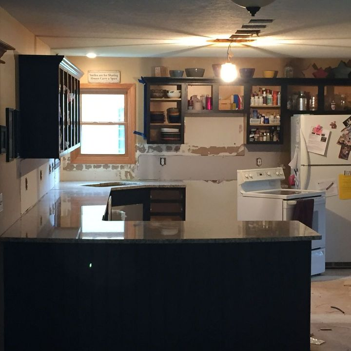 From Kitchen Island To Peninsula - Kitchen Remodel