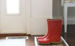 how to make a cobblestone boot shoe tray, crafts, foyer, home decor, how to, organizing