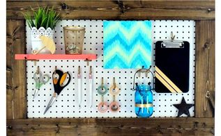framed pegboard craft room organization, craft rooms, crafts, organizing, woodworking projects