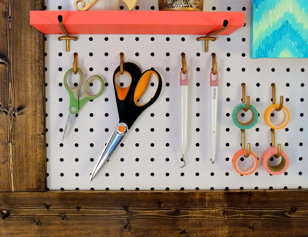 framed pegboard craft room organization craft rooms crafts organizing woodworking projects