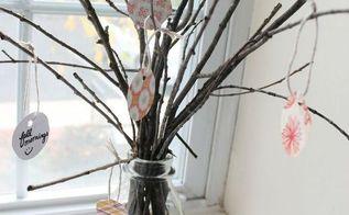 diy thankfulness tree, crafts, seasonal holiday decor, thanksgiving decorations