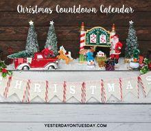christmas countdown calendar, christmas decorations, crafts