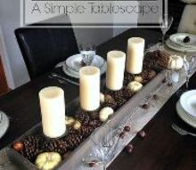 a simple thanksgiving tablescape, seasonal holiday decor, thanksgiving decorations