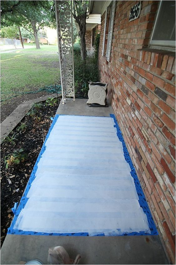 Painted Slabs Patio