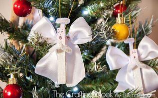 how to make clothespin angel christmas ornaments, christmas decorations, how to, seasonal holiday decor