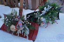 decorating snow shovels snow much fun, christmas decorations, crafts, outdoor living, repurposing upcycling, seasonal holiday decor