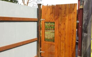 making a gate with steel art i share a source secrete, diy, fences, woodworking projects