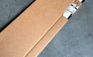 cardboard box to chalkboard art, chalkboard paint, crafts, laundry rooms