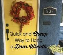 easy cheap way to hang a wreath, christmas decorations, crafts, seasonal holiday decor, wreaths