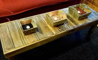 the skinny long of this coffee table, diy, pallet, rustic furniture, woodworking projects